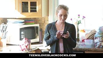 TeensLoveBlackCocks - Sneaky Small Teen (Angel Smalls) Gets A BBC Pounding