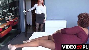 Polish porn - European MILF with ebony girl in lesbian interracial sex