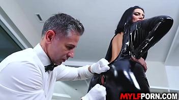 Hot Butler fucks a sexy MILF