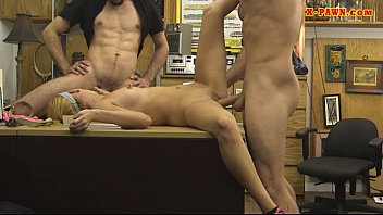 Pretty blonde babe pounded by pawn dude at the pawnshop