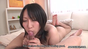 Big breasted Japanese babe Yuna Hoshizaki rides cock in POV 8 min