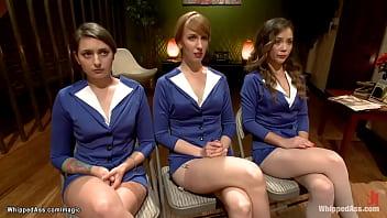 Three Stewardesses Anal Fucked