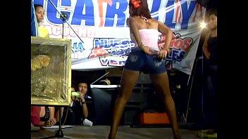 carajita dancing on stage shows thong