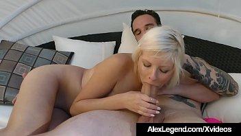 Watch me suck dick eat pussy Alessandra noir fucked in the backyard by alex legend