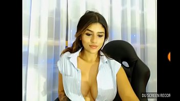 Indian big tits girl on webcam