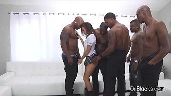 Big tit coed on 5 big black dicks 6分钟