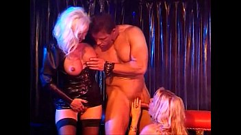 Leather fetish ware - Two hot horny beautiful blondes in leather get a good fuck, helen duval