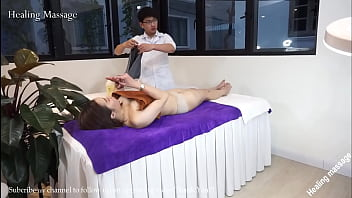 Japanese girl massage with oil