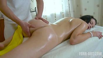 Tall woman enjoying nice massage when her masseur tricks her and fucks her