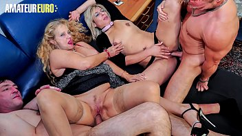 AMATEUR EURO - Amateur German Granny Is In For Some Group Fun Fuck (Elif O. & Yvonne)