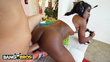 BANGBROS - Fucking Black Girlfriend Ana Foxxx While She Plays Video Games