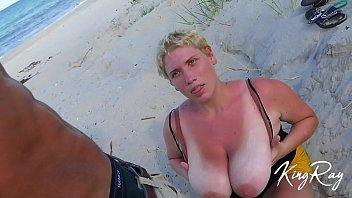 Blonde Sucks & Fucks BBC On Public Beach (@xKingRay) thumbnail