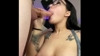 Big Tit Alt Teen Stella Rae Sucks Big Dick Until Cum Covered Face