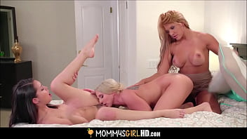 Two Hot Big Tits Stepmoms Mercedes Carrera And Christie Stevens Fuck Their Teen Stepdaughter Alina Lopez To Multiple Orgasms
