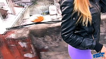 Amazing Big Ass Teen On the Terrace Exposing Big Boobs and Cameltoe Preview