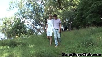 Young Twink Doggystyle Barebacked Outdoors