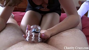 Beg me for the key to your chastity device