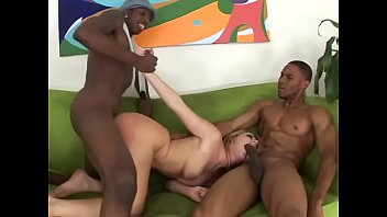 Playful English blonde girl with wide blue eyes Sophie Dee likes to feel as little slut for black ghetto bros