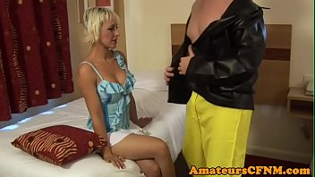 MILF babe humiliates naked stripper