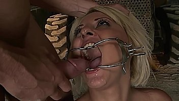 Gorgeous victim, Antinia LaRouge gets training outdoor. Part 4. Obeys and enjoys rough fuck.