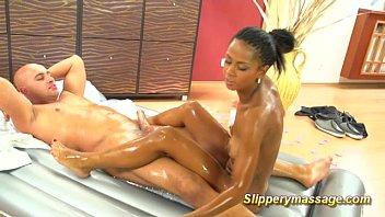 skinny black teen slippery nuru massage