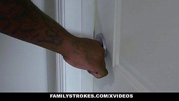FamilyStrokes - Hot Ebony Lola Chanel Sucks And Rides Stepdads Morning Wood