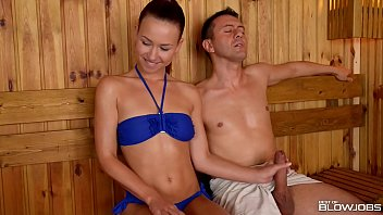 Spartacus blood and sand threesome - Sauna slut taylor sands sucks off 2 strangers cocks