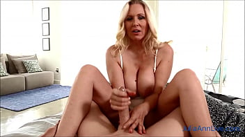 Get Up For Your Big Boobed Step Mom Julia Ann And Her Morning Handjob!