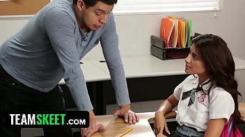 InnocentHigh - Ava Mendes Fucks Her Teacher For An A 8 min
