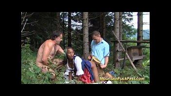 mountain threesome with black skinny Vorschaubild
