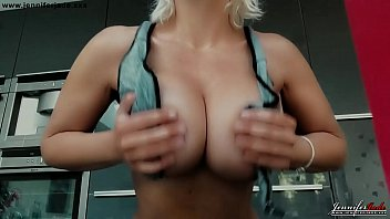 Busty big tits Milf Jennifer Jade tit wank video preview with slow motion