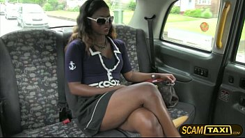 Sexy and horny ebony Jasmine gets pounded hard by the drivers Scottish cock