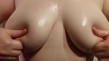 my wife oils her big tits for our xhamster friends