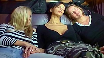 Angie, Anabel and Alicia in the van 4 min