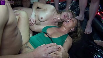 Bang my wife! Extreme sperm and piss gangbang! Part 1