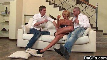 Dagfs - Horny Blonde Ivana Sugar Taking On Two Dicks 14 min