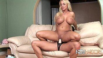 Lesbian Blonde and Brunette Strap On Sex