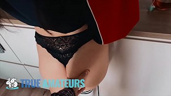 Samll tit GF rides cock and  filled with cum - Trueamateur