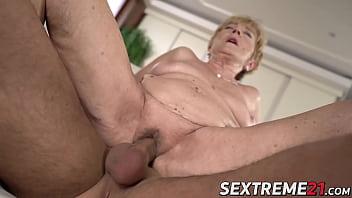 Nasty granny Malya seduced and banged by hard young cock