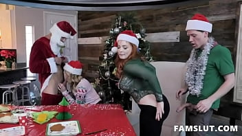 step family group sex on christmas evening – teen porn