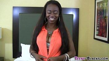 Busty ebony teen titty banging
