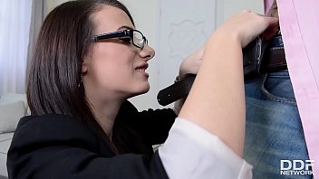 Secretary Hannah Sweet Fucked Hard by Boss at Office