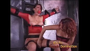 Female domination humiliation ideas Girl in red fishnet lingerie dominated and humiliated like never before