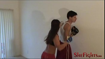 Jersey And Cindy Pound A SmartAss Guy - Double Beatdown with cruel girls