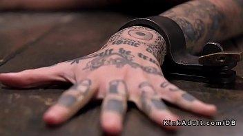 Tattooed And Gagged Sub Bdsm Torment
