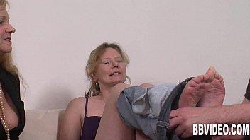 Slutty german milfs sharing cock 8 min