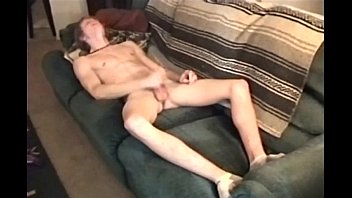 8tube young twink jerking off - Fresh 18yr jerking it off on couch twink