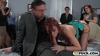 Office woman Monique Alexander ass banged and cum facialed