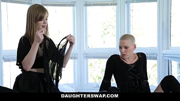 DaughterSwap - Gothic Sluts (Dolly Leigh) (Riley Nixon) Fucked By BFFS dad pt.1