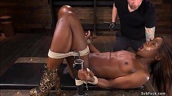 White master anal fucks ebony slave